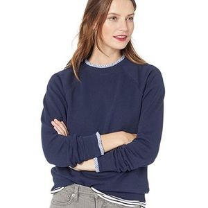 J. Crew Tops - J crew ruffled trim sweat shirt😍